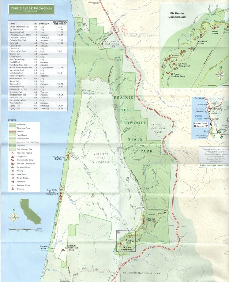 Mapa Redwoods